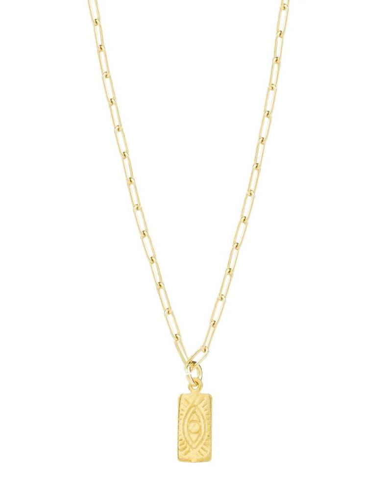 HERMINA HERMINA TAG NECKLACE GOLD