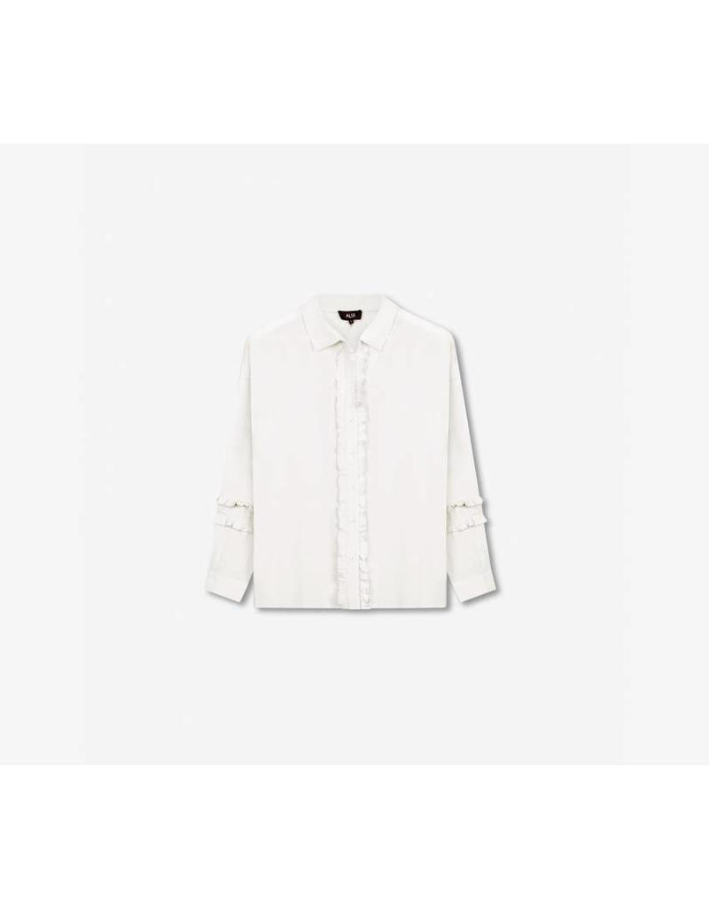 ALIX THE LABEL BLOUSE RUFFLE OFF WHITE