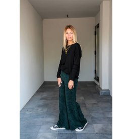 ACCENTO PANTS WIDE LEG GREEN