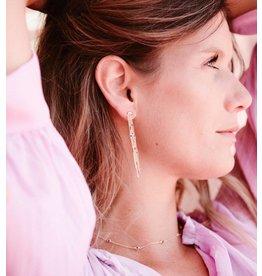 PEAFOWL EARRINGS GOLD PURPLE AMETHYST
