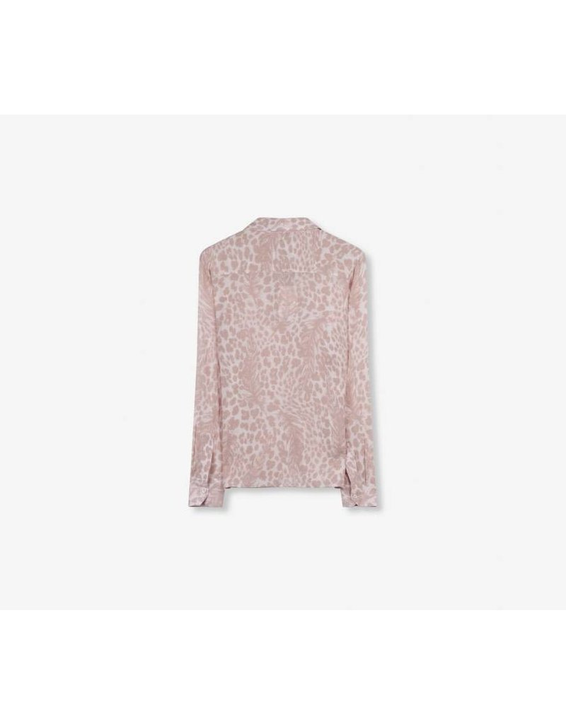 ALIX THE LABEL BLOUSE FEATHER ANIMAL