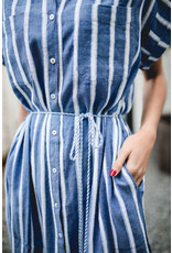 DESIGNERS SOCIETY DRESS STRIPED BLUE