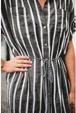 DESIGNERS SOCIETY DRESS STRIPED GREY