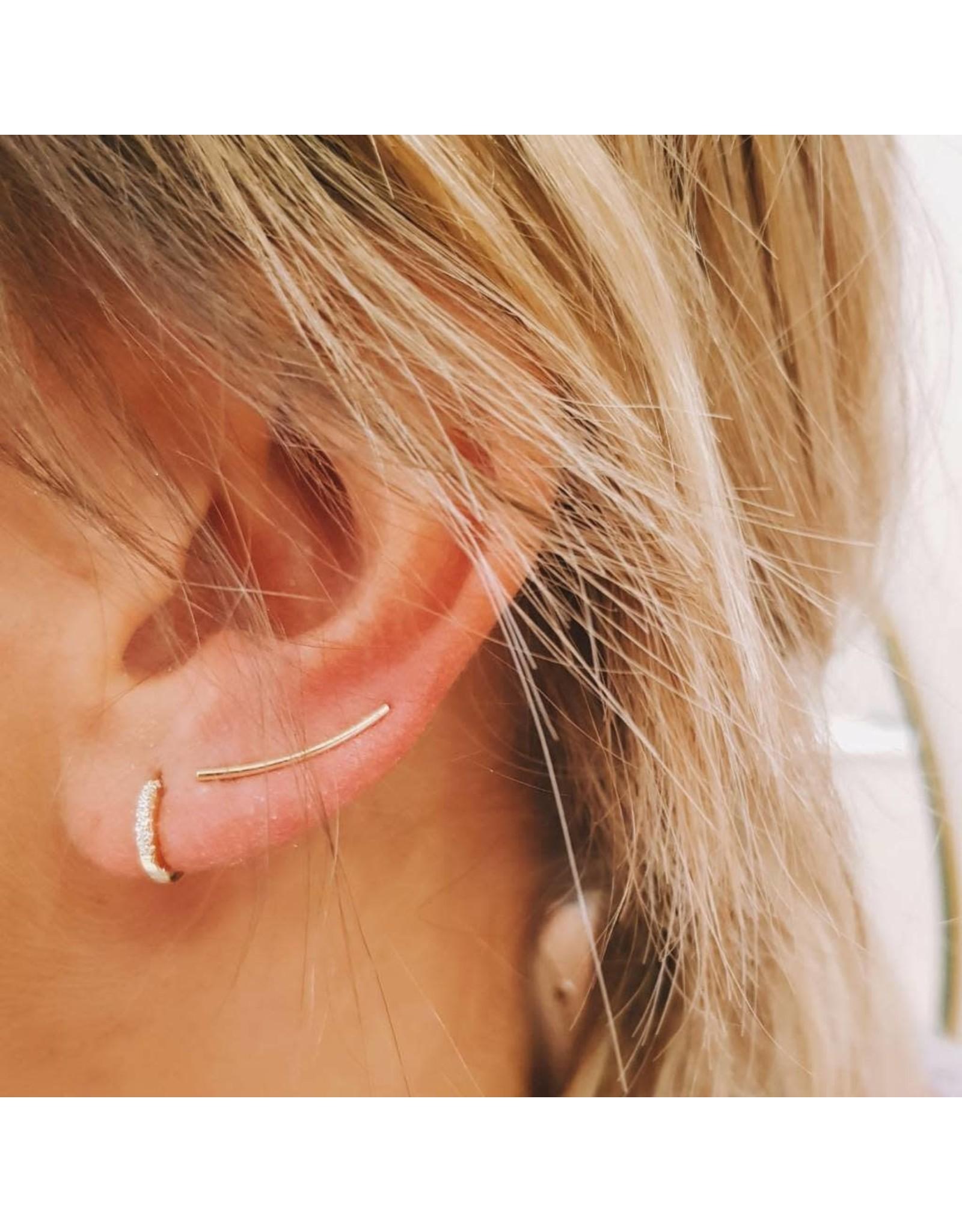EARRING JEANNE STRASS