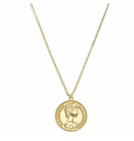 NECKLACE ROMA VINTAGE COIN GOLD