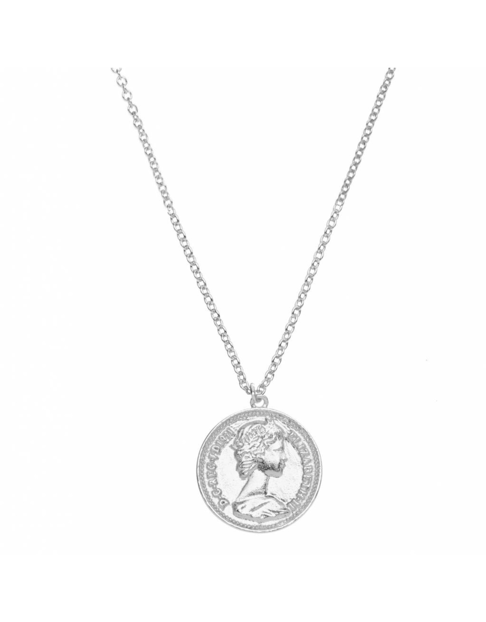NECKLACE ROMA VINTAGE COIN SILVER