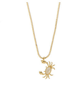 NECKLACE ROSA CRAB GOLD