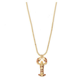 NECKLACE ROSA LOBSTER GOLD