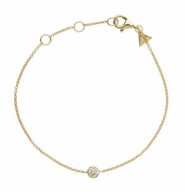 BRACELET HUGO STRASS GOLD