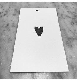 MINI CARD WHITE 5,5 / 9 CM HEART