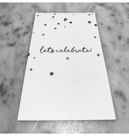 MINI CARD WHITE 5,5 / 9 CM LET'S CELEBRATE