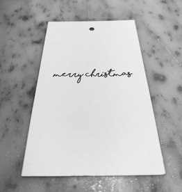 MINI CARD WHITE 5,5 / 9 CM MERRY CHRISTMAS