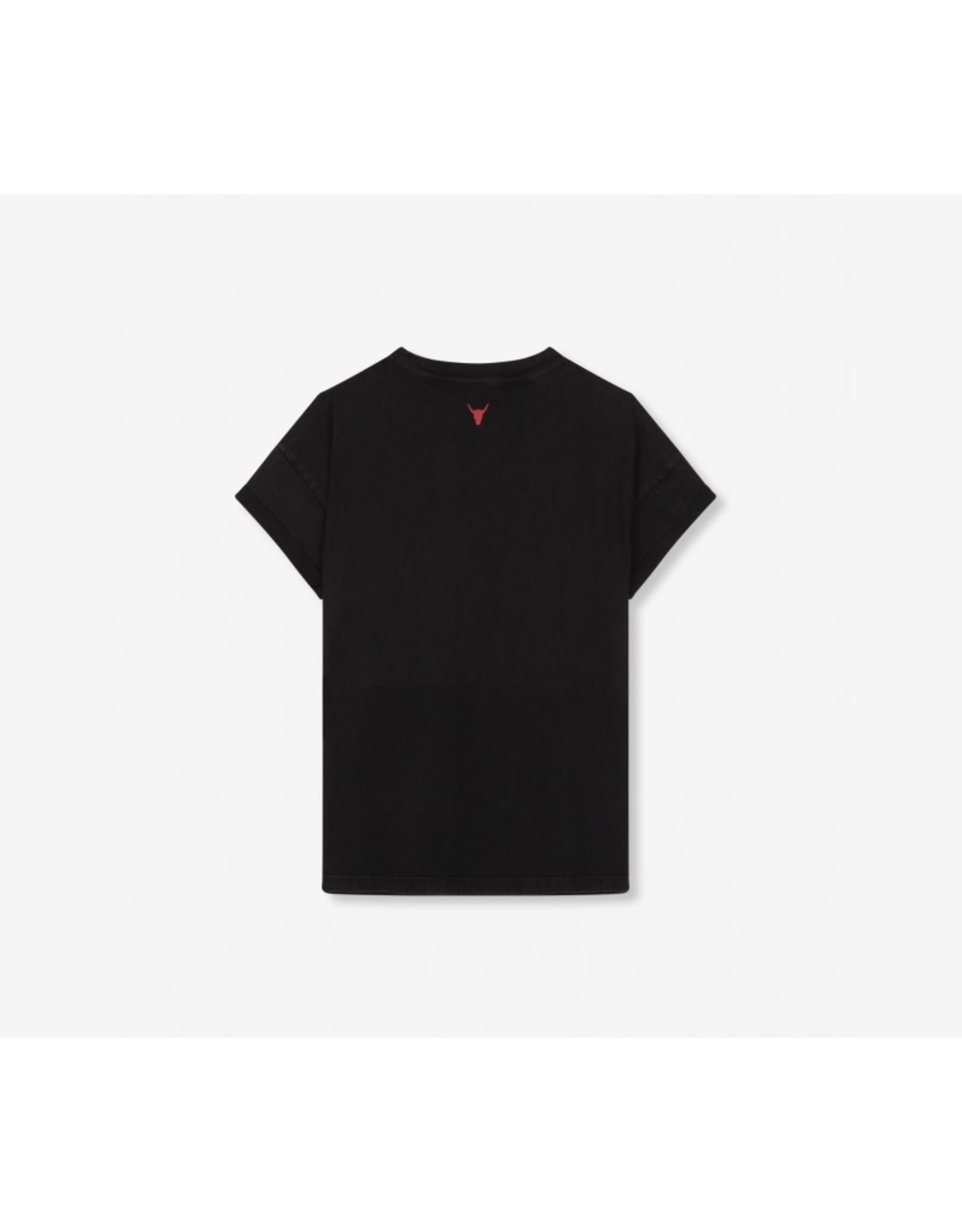 ALIX THE LABEL LADIES KNITTED ALIX UNIVERSE T-SHIRT BLACK