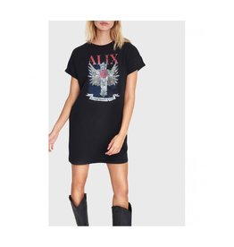 ALIX THE LABEL LONG T-SHIRT VINTAGE JERSEY BLACK