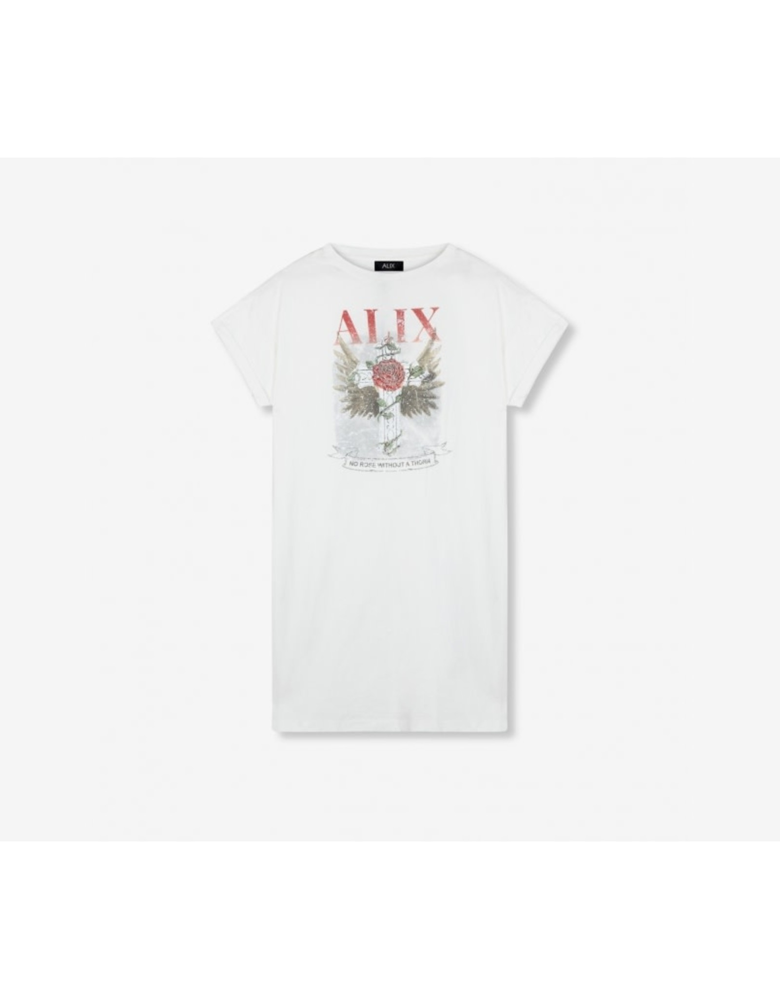 ALIX THE LABEL LONG T-SHIRT VINTAGE JERSEY WHITE