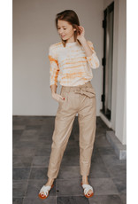 JUST FEMALE TROUSERS SAGO LEATHER