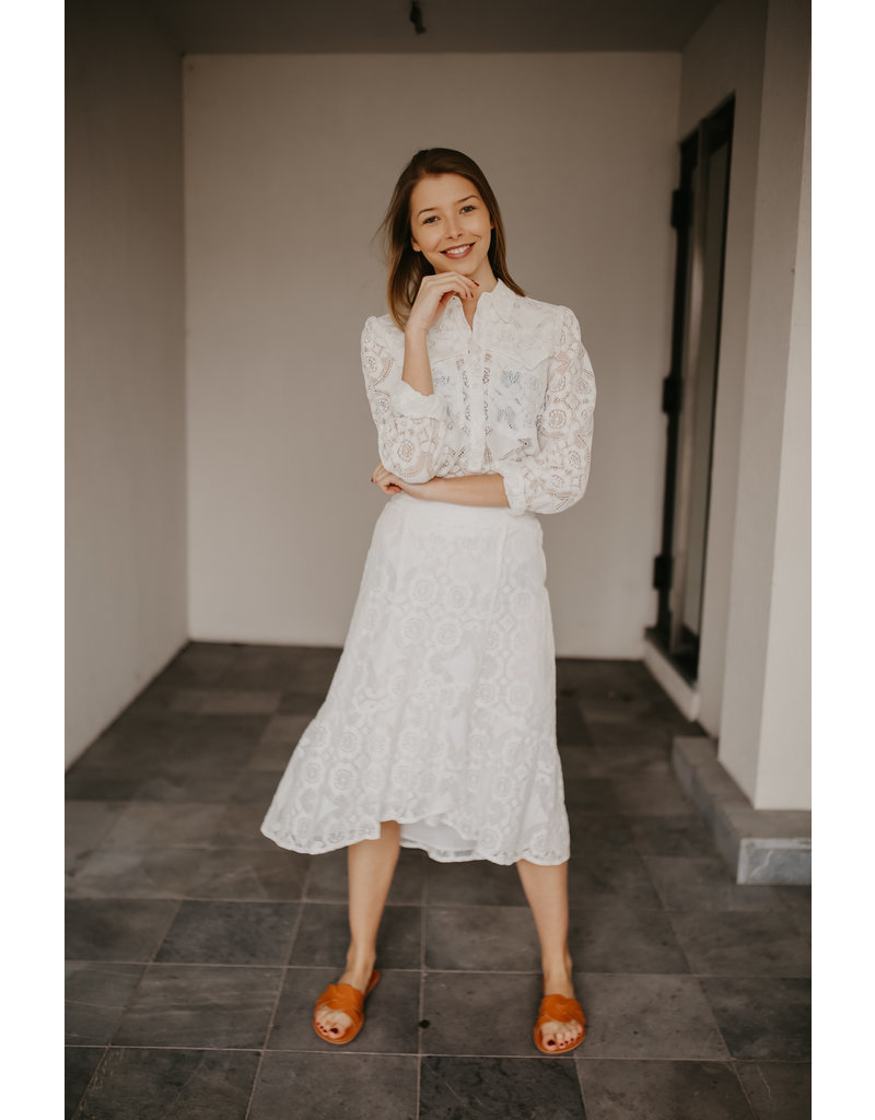 ALIX THE LABEL SKIRT MID LACE
