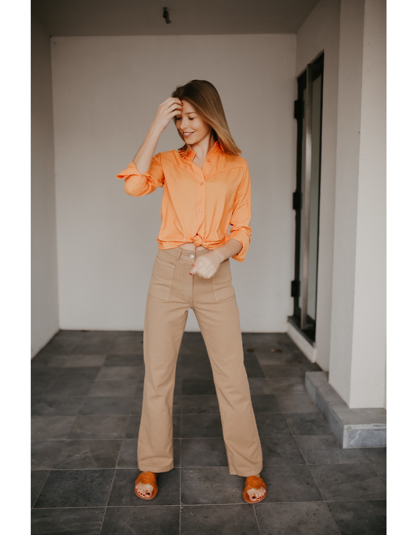 ALIX THE LABEL BLOUSE MODAL SOFT ORANGE