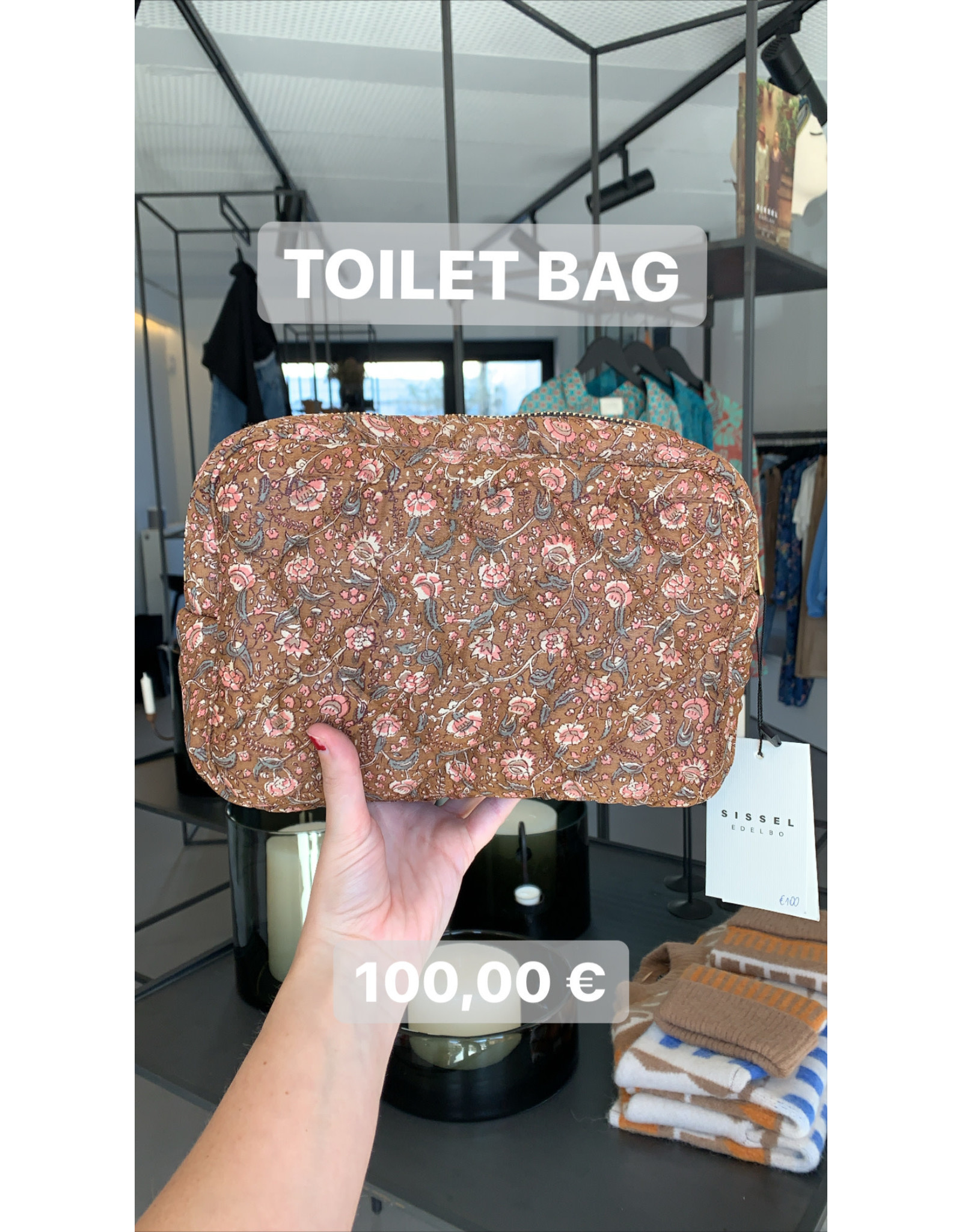 SISSEL EDELBO TOILET BAG AVI ROSE