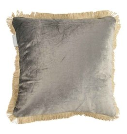 CUSHION VELVET TAUPE