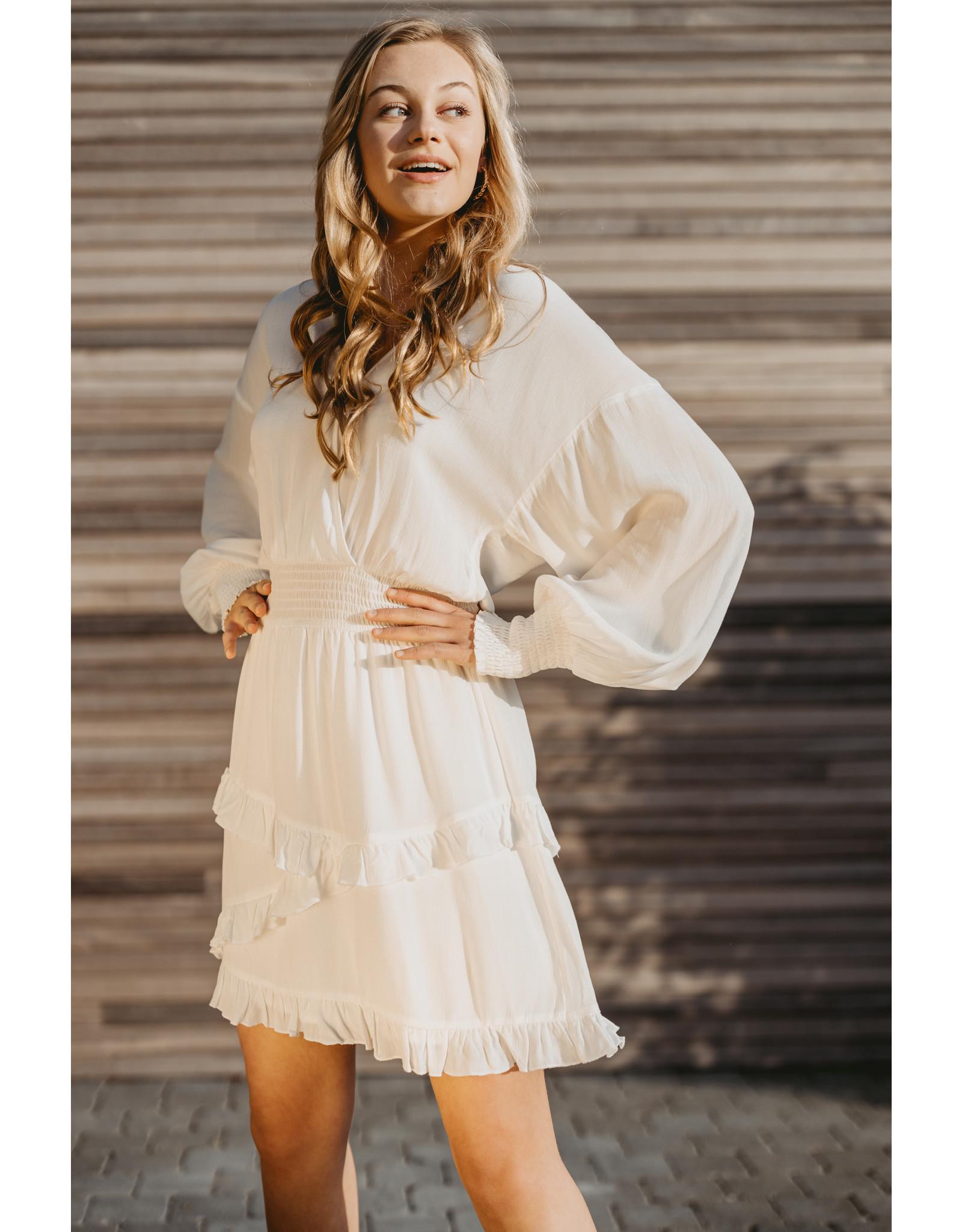 ALIX THE LABEL DRESS ALIX VISCOSE WHITE