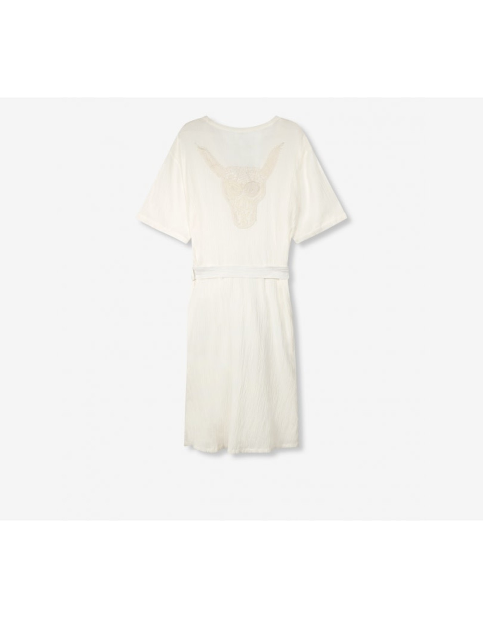 ALIX THE LABEL DRESS CRINKLE OFF WHITE