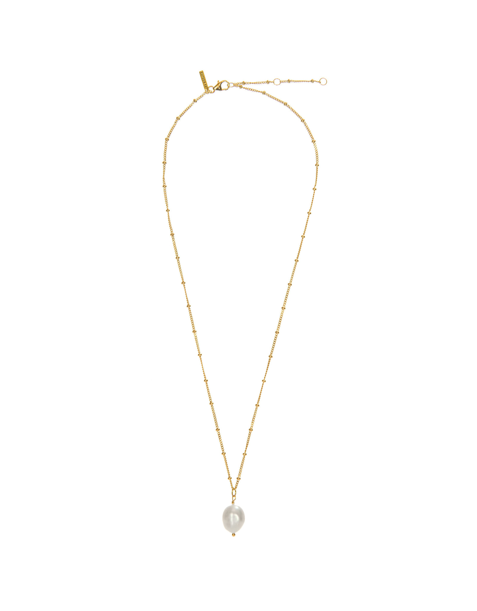 NECKLACE ROSA BAROQUE PEARL GOLD