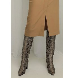 LIV THE LABEL HIGH KNEE BOOT SNAKESKIN
