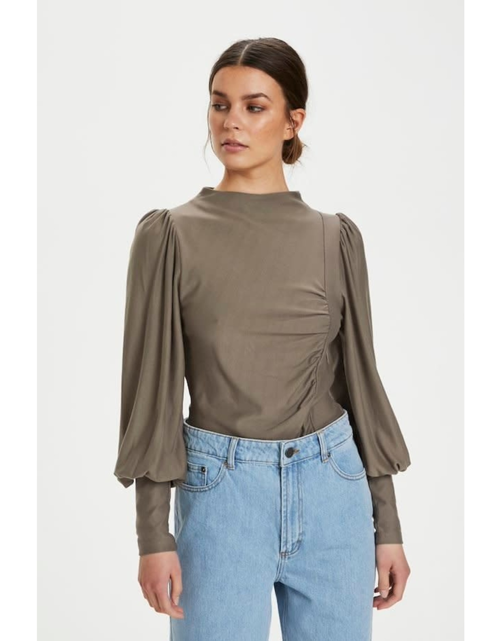 GESTUZ PUFF BLOUSE RIFAGZ EARTH