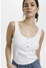 GESTUZ TOP ROLLA U-NECK WHITE