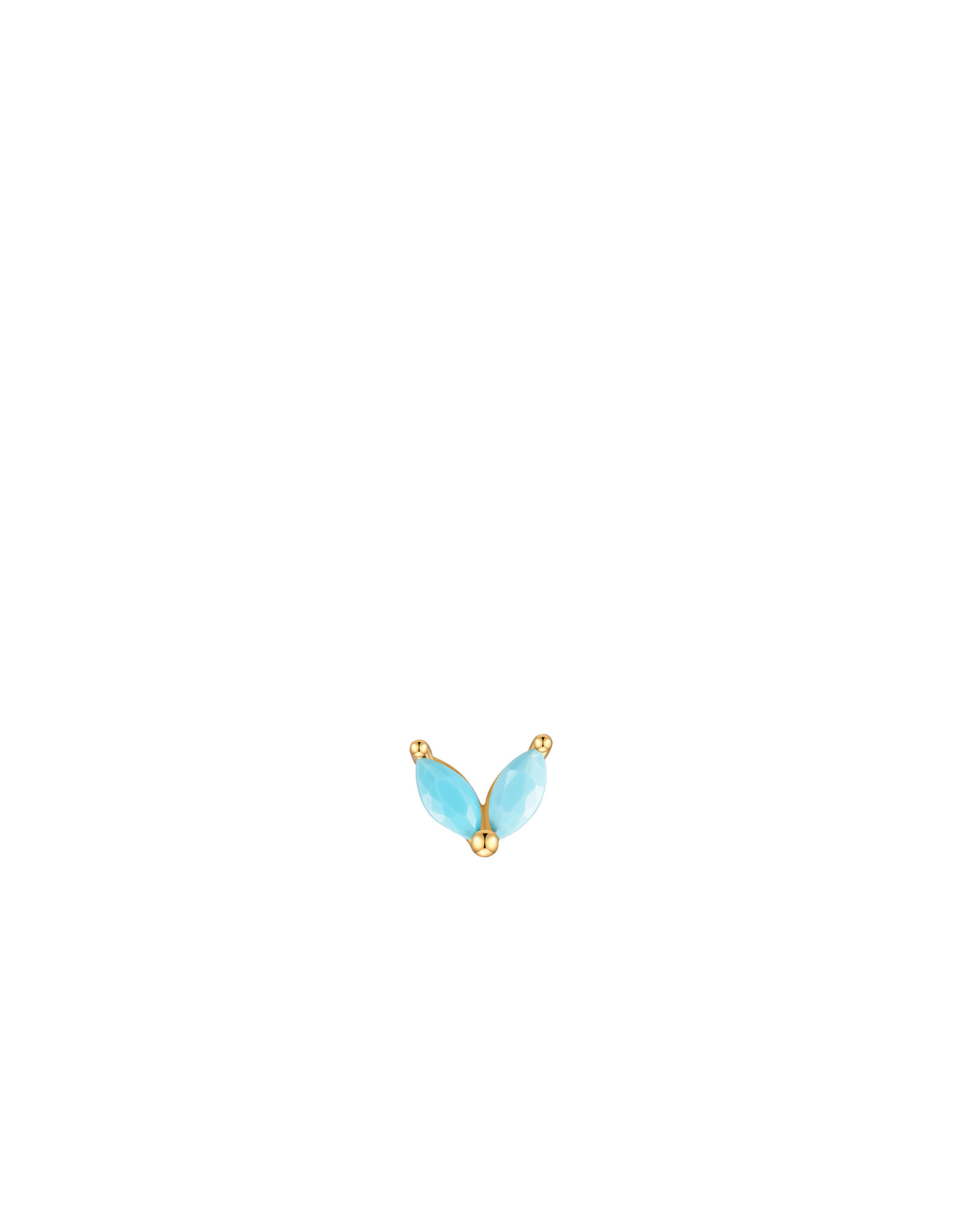 EARRING JOLIE DOUBLE LEAF TURQUOISE