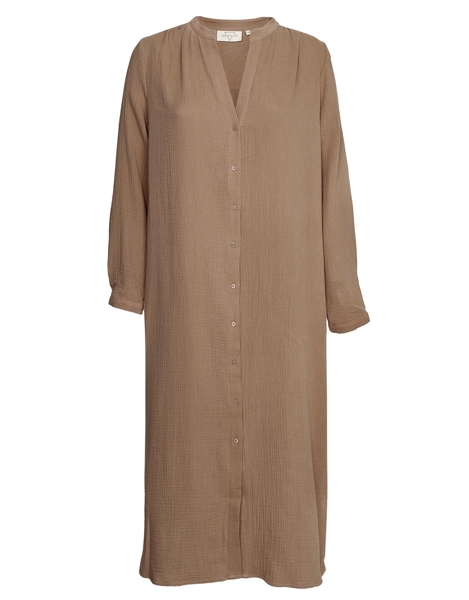 LES SOEURS DRESS BOAS MOKKA