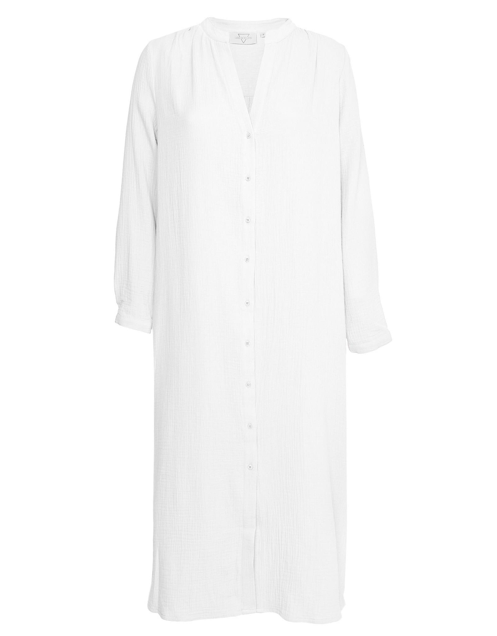 LES SOEURS DRESS BOAS WHITE