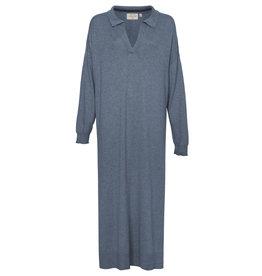 LES SOEURS KNIT DRESS DENIM BLUE