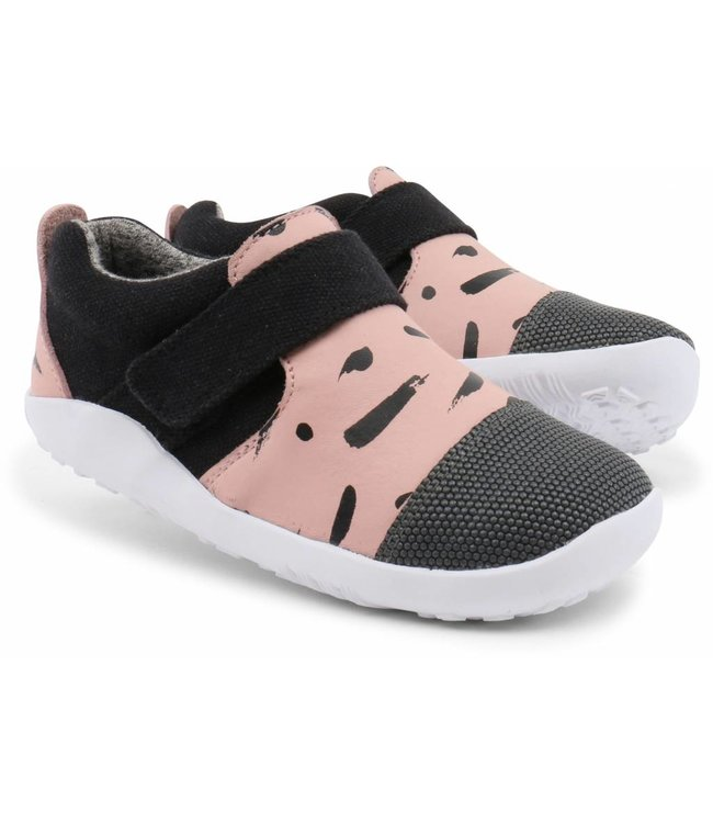 Bobux Kinderschuh I-Walk City Sliper blush/black