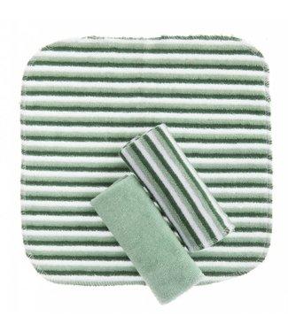 Zewi bébé-jou Waschtücher 3 Stk. grün