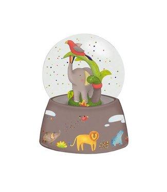 Moulin Roty Schneekugel mit Musik Elefant