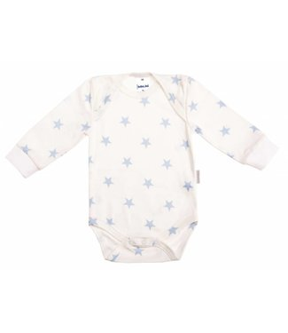 Zewi bébé-jou Body langarm bedruckt white/ciel Stars