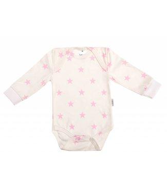 Zewi bébé-jou Body langarm bedruckt white/rose Stars