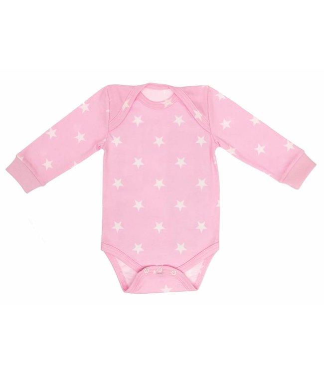 Zewi bébé-jou Body langarm bedruckt rose Stars