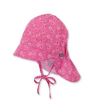 Sterntaler Mädchen Schirmmütze mit Nackenschutz  magenta