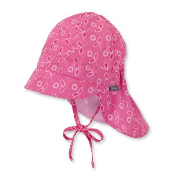 Mädchen Schirmmütze mit Nackenschutz  magenta