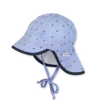 Sterntaler Jungen Schirmmütze mit Nackenschutz himmel