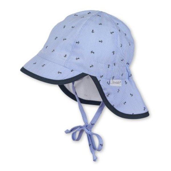 Jungen Schirmmütze mit Nackenschutz himmel