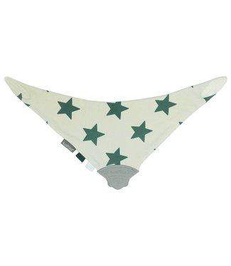 Kushies Dreieckstuch ChewBib Sterne grün