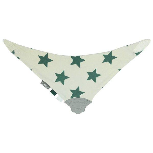 Dreieckstuch ChewBib Sterne grün