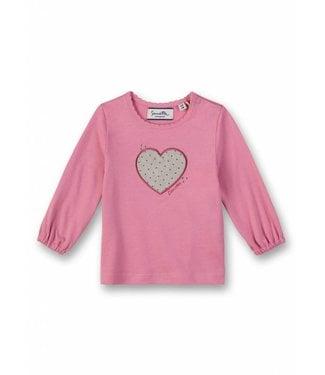 Sanetta Fiftyseven Baby Mädchen-Shirt langarm Herz