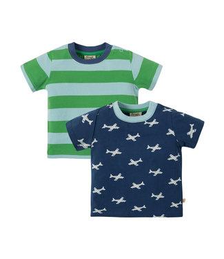Frugi Jungen T-Shirt 2er Pack Tresco