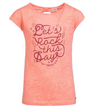 Protest Mädchen T-Shirt Ellis coral blaze