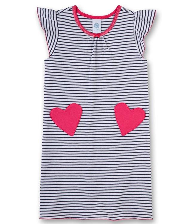Sanetta Mädchen Nachthemd ärmellos Herzen